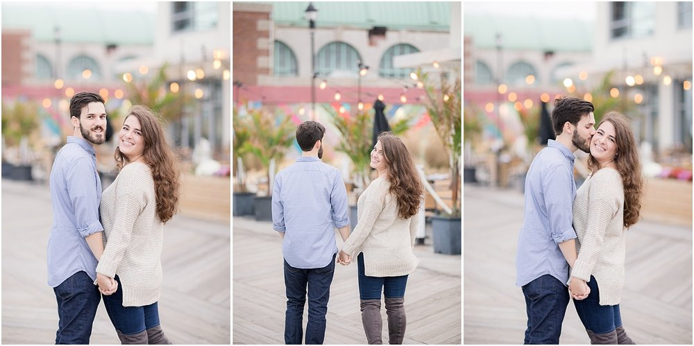colorful engagement photos in asbury park nj