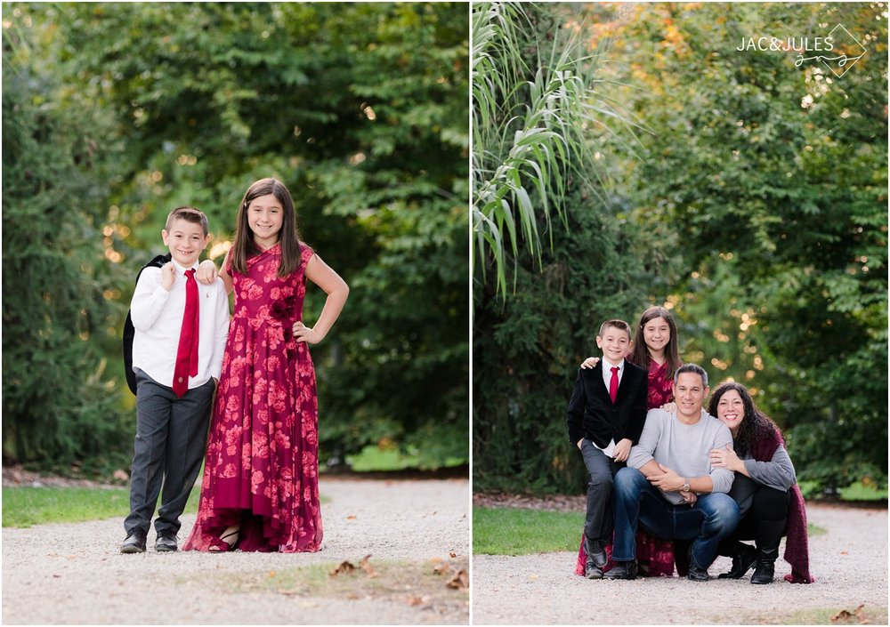 Elegant family photos at Grounds for Sculpture in Hamilton, NJ.