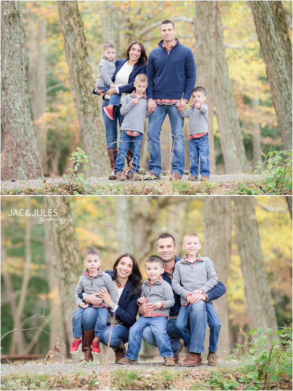 allaire state park family photos in the fall