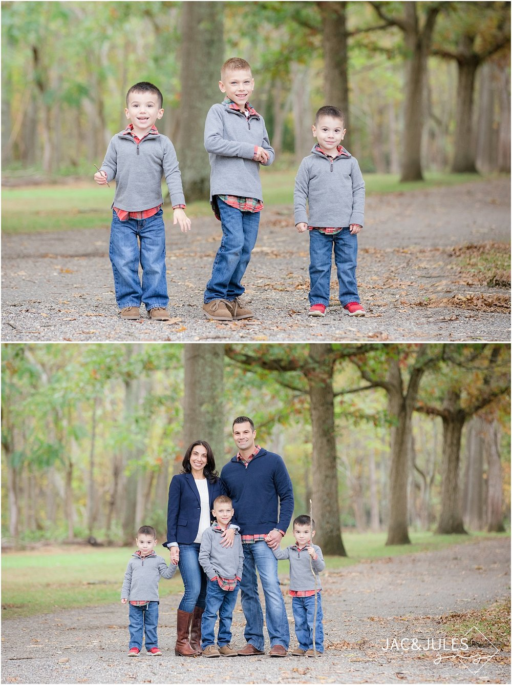 autumn family photos at allaire state park nj