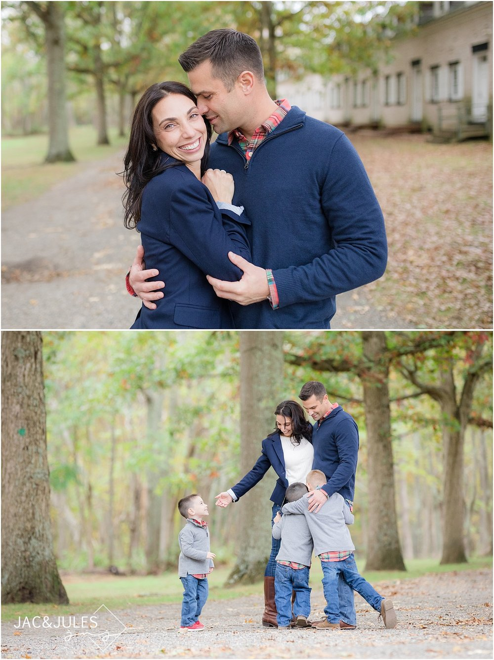 candid family photos at allaire state park