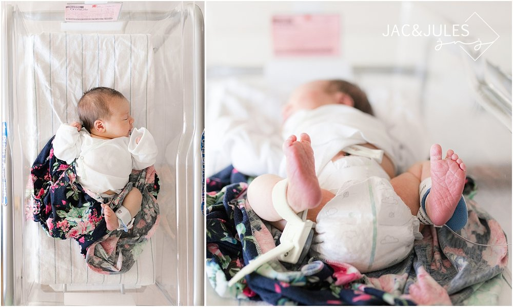 lifestyle newborn photos at a fresh 48 session in nj