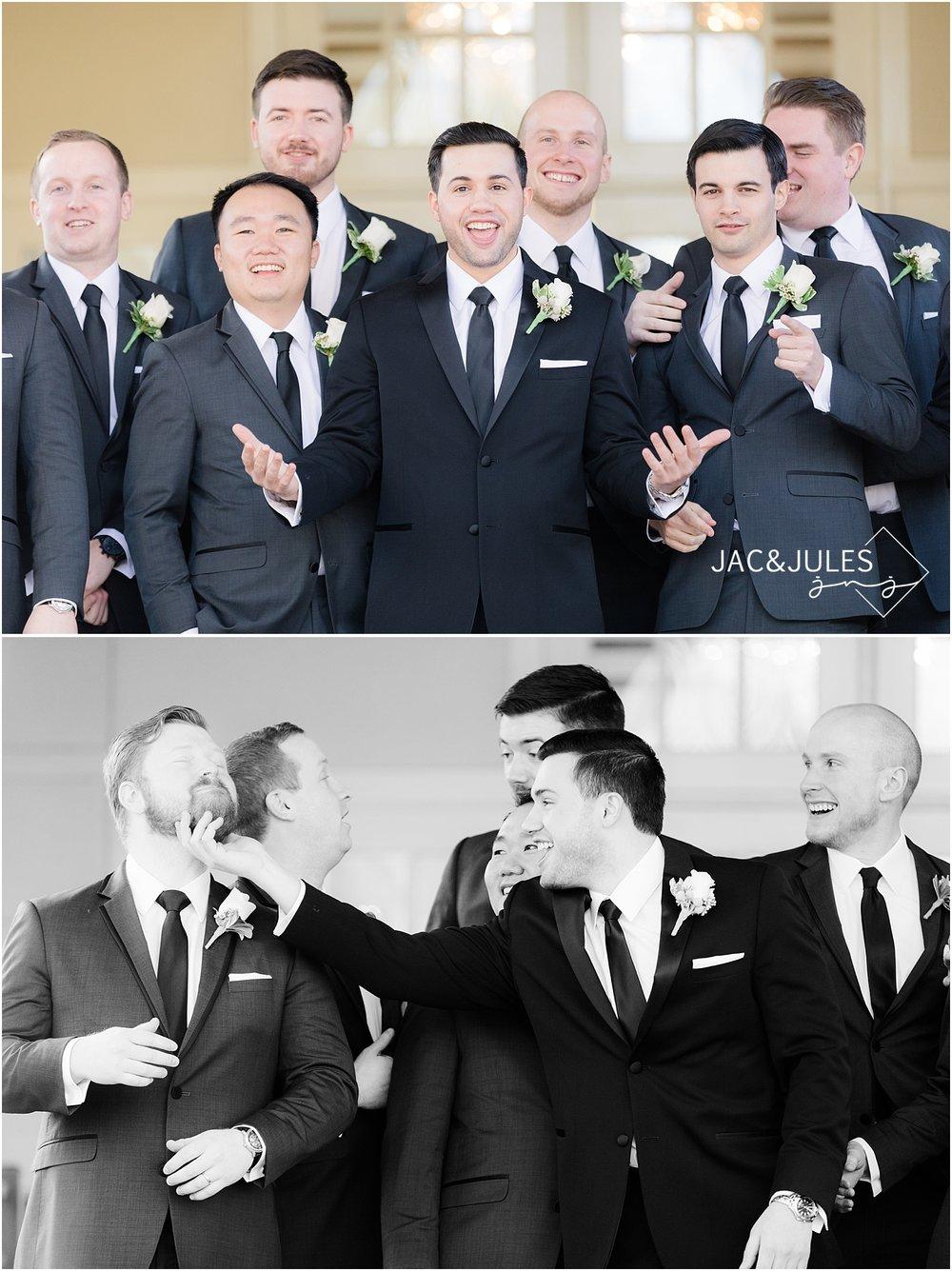fun groomsmen photos in livingston nj