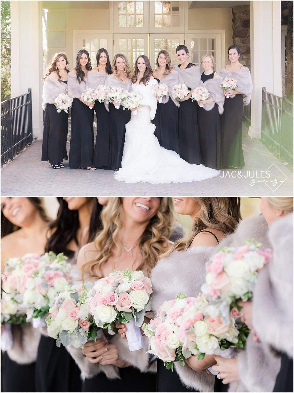 bridesmaid photos in crystal plaza