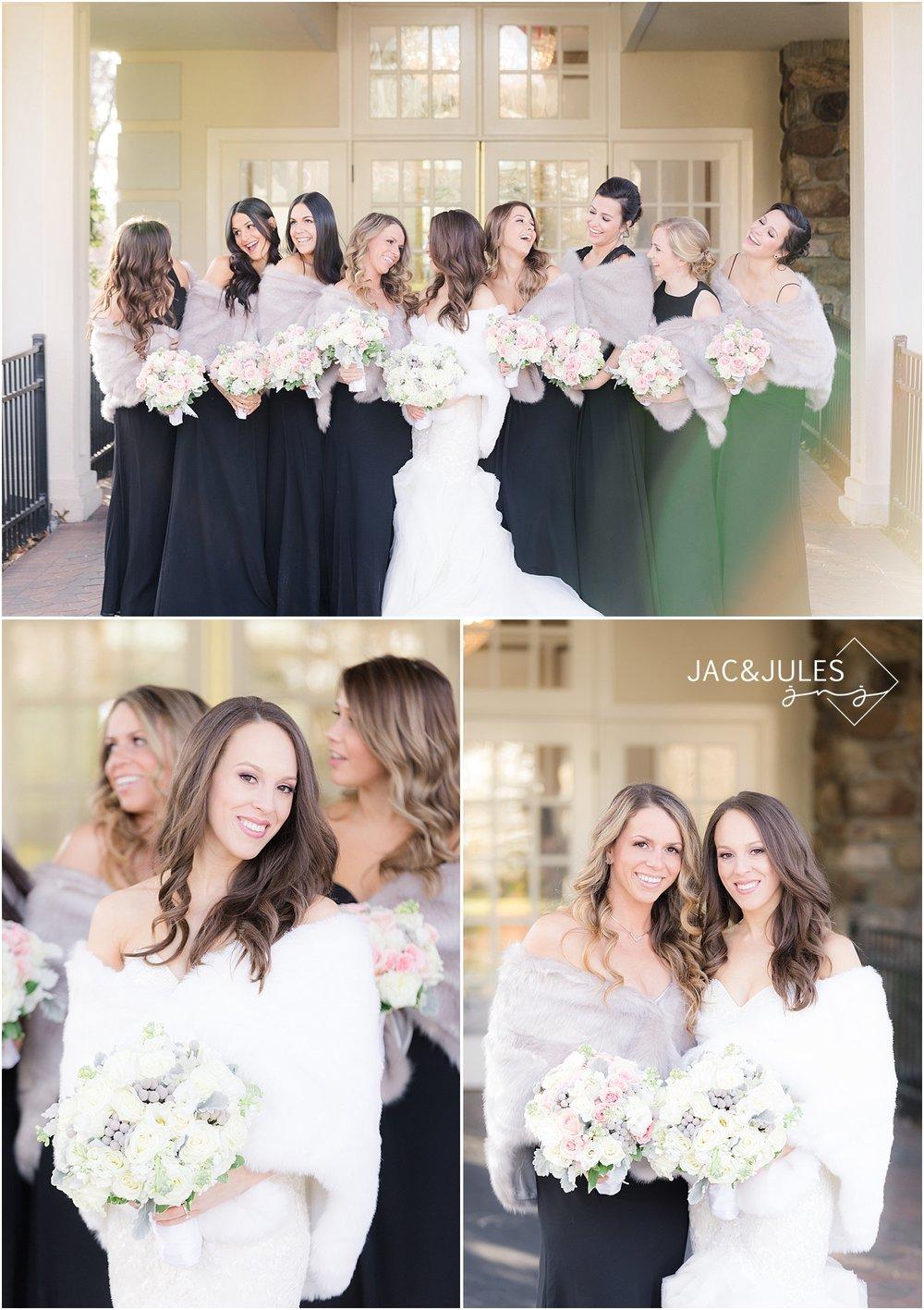 fun bridesmaid photos in livingston nj