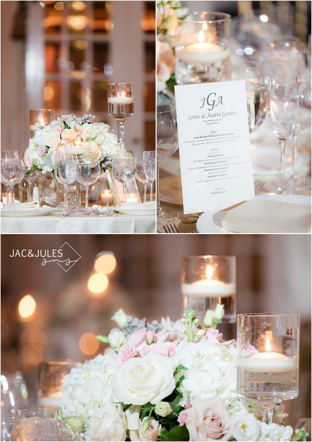 reception details at crystal plaza in livingston