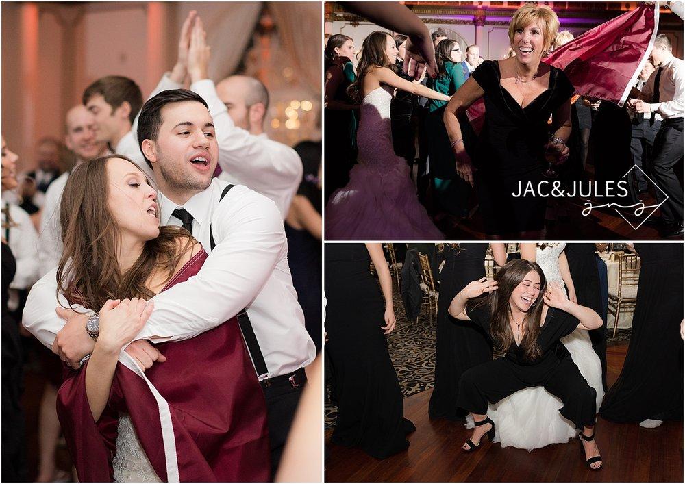 fun dancing photos at crystal plaza wedding reception