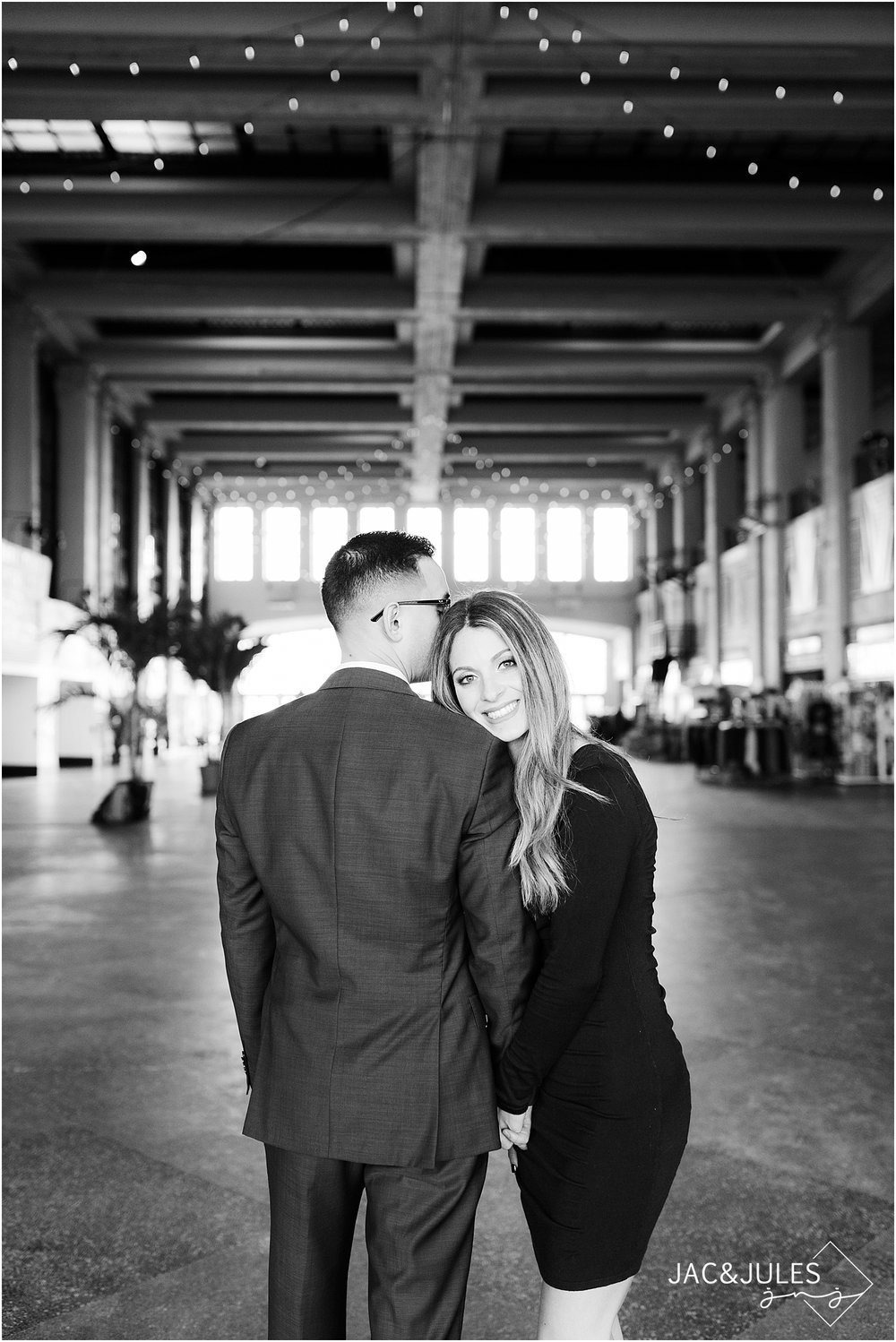 formal engagement photos at convention hall asbury park nj