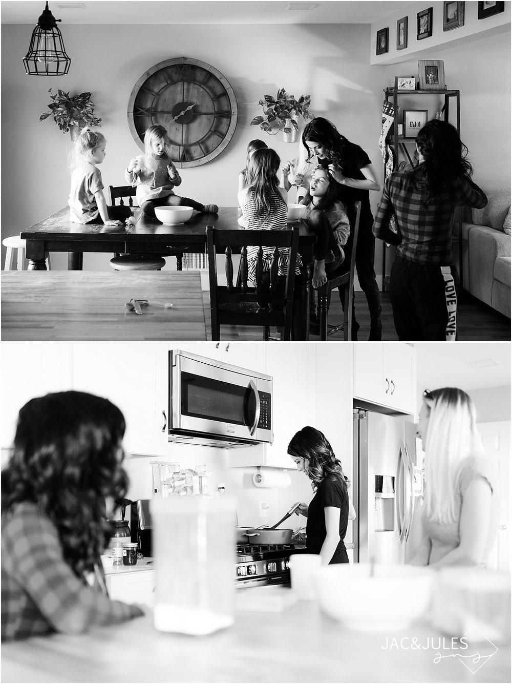 family baking photo
