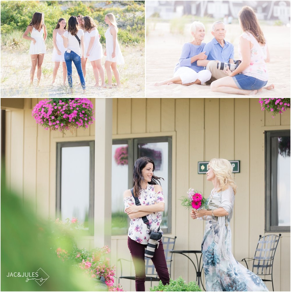 photographers Jacqui and Julia from Jac&Jules chatting with clients during wedding, family, and senior photo sessions from 2017