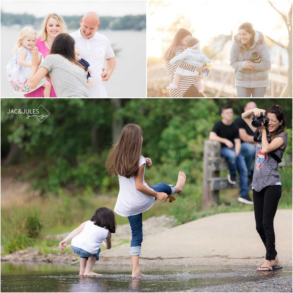 A behind the scenes look at Family photographers Jacqui and Julia gaining great expressions from kids during their 2107 photo sessions.