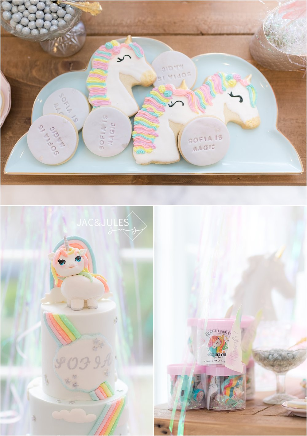 rainbow unicorn birthday decor
