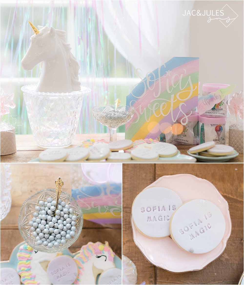 rainbow unicorn birthday theme