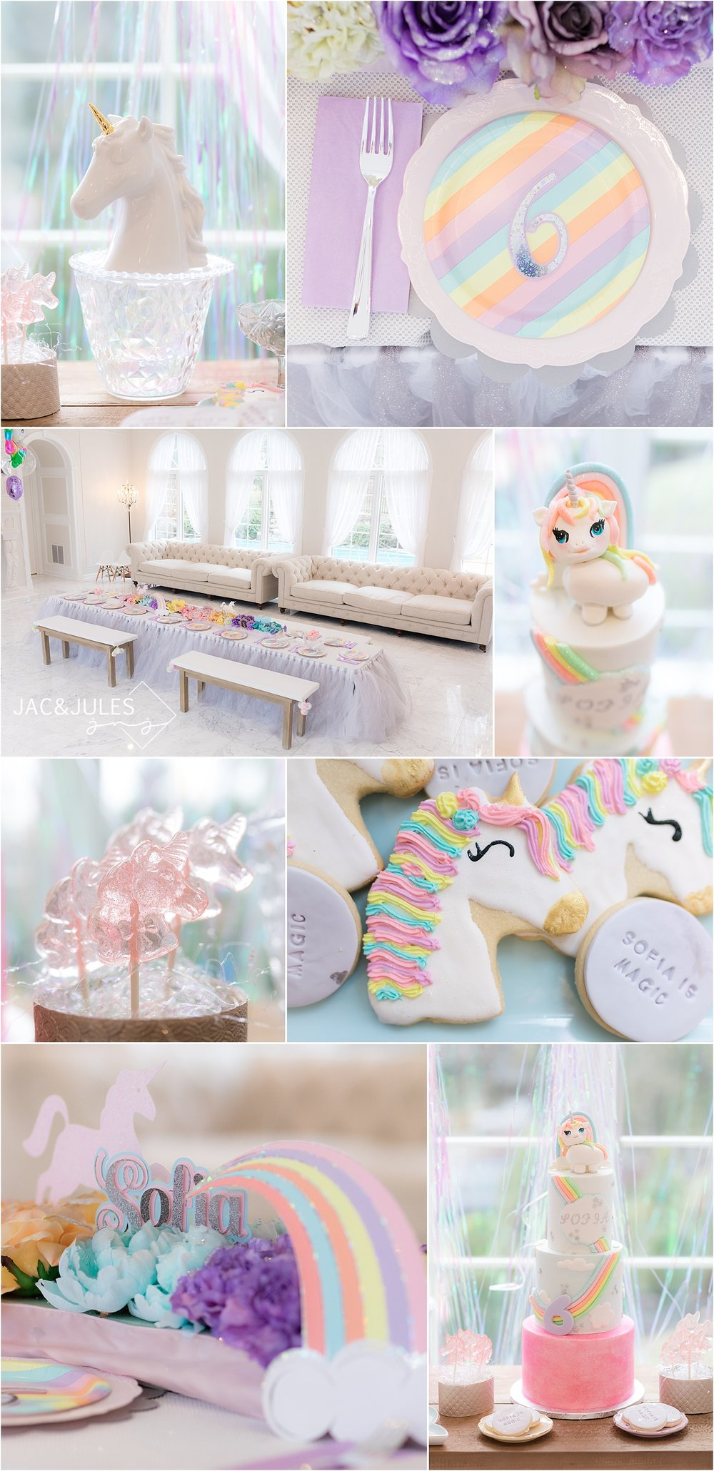 rainbow unicorn birthday party decor