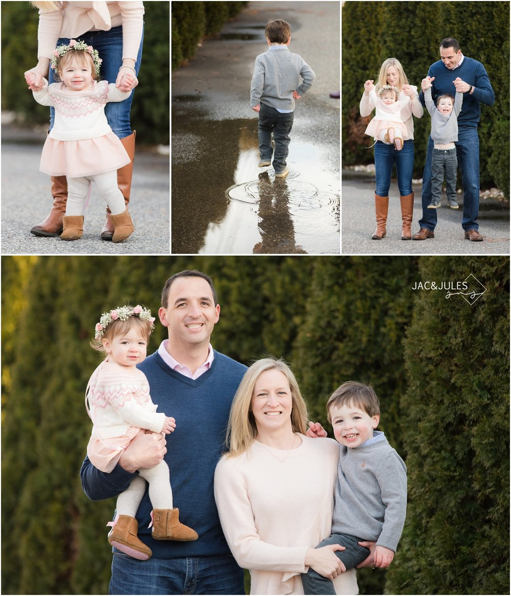 Family photos at home in Point Pleasant, NJ.