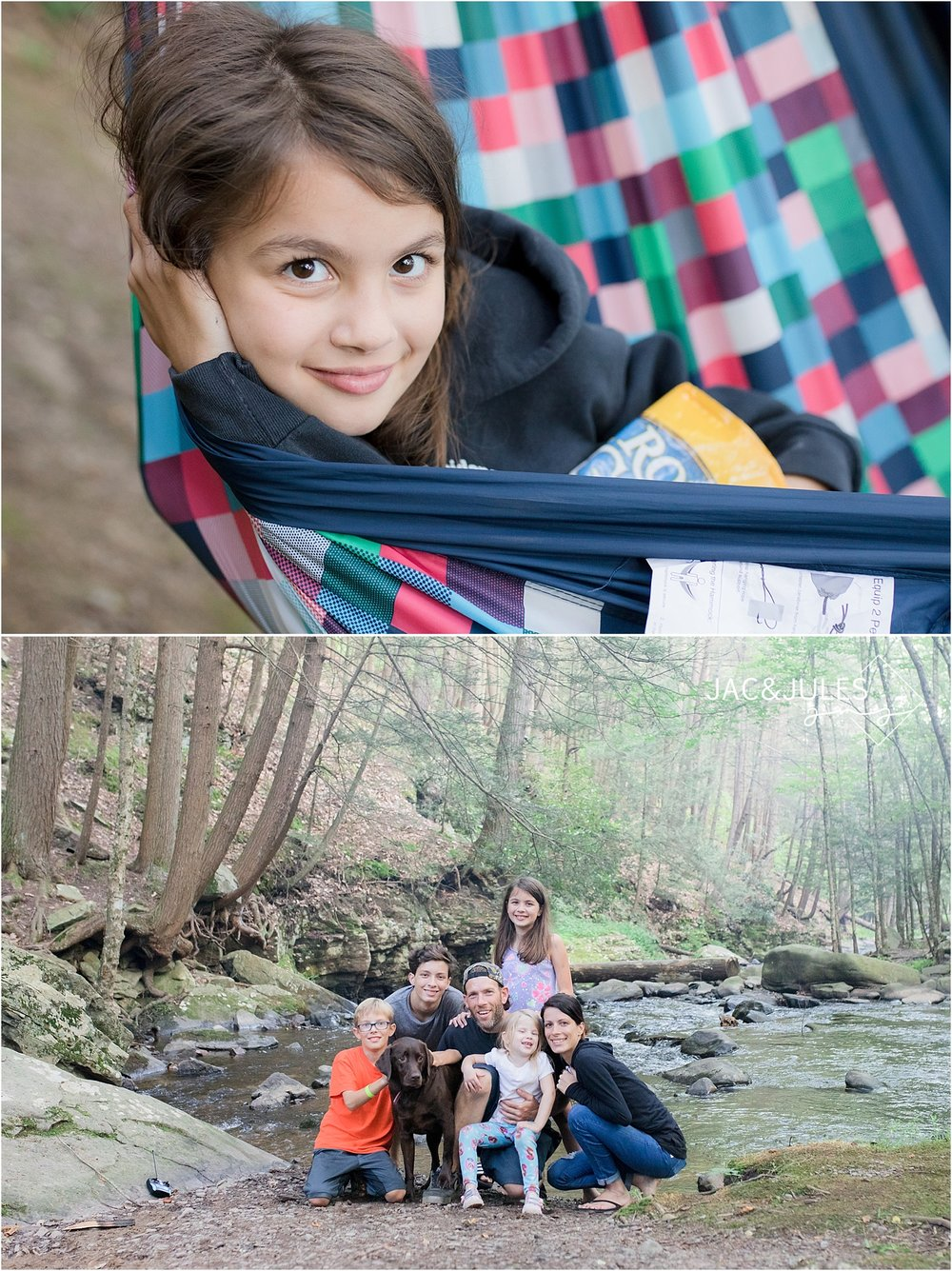 family camping at kittatinny campground in NY