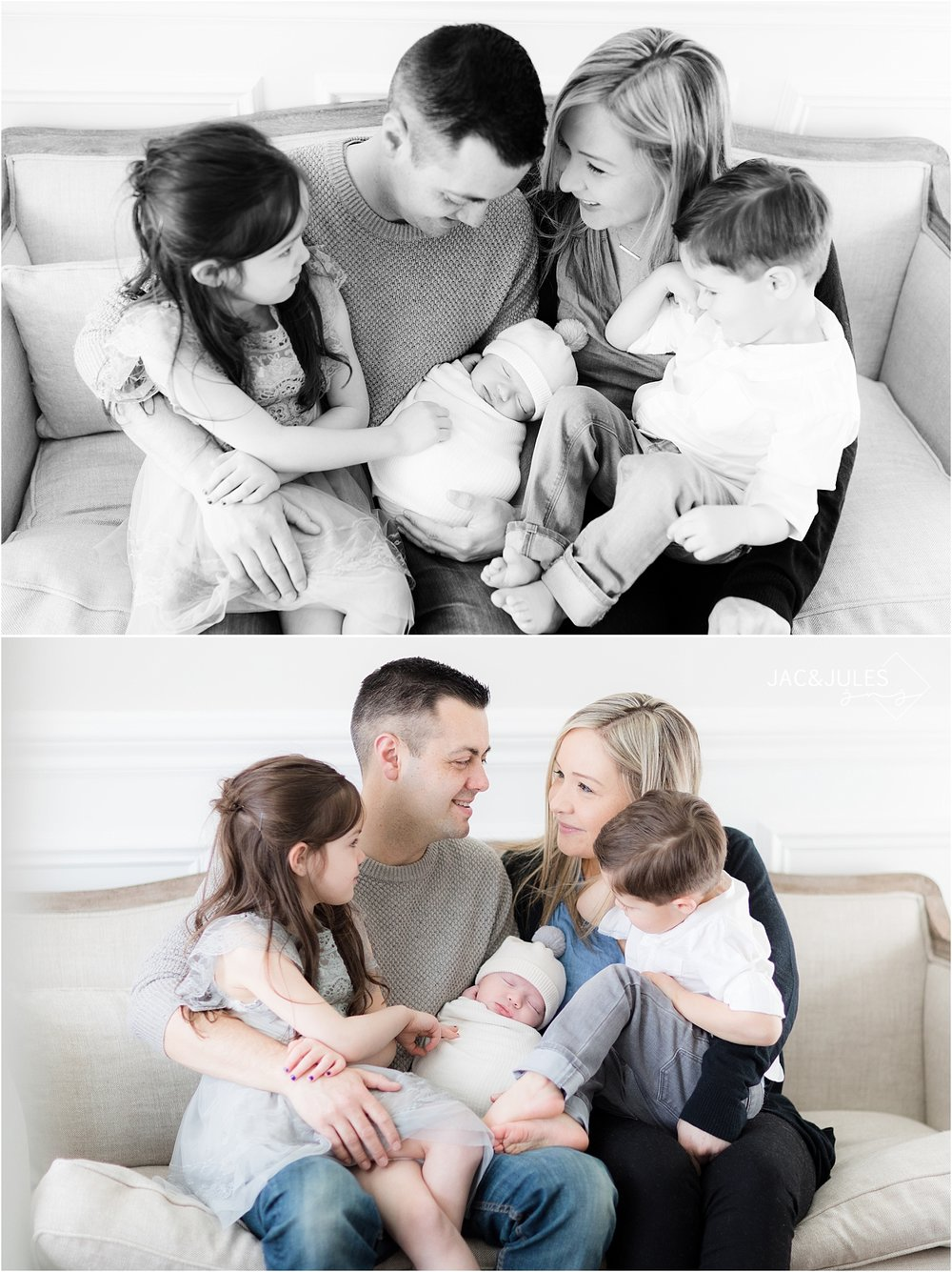 natural family newborn photo in toms river nj home