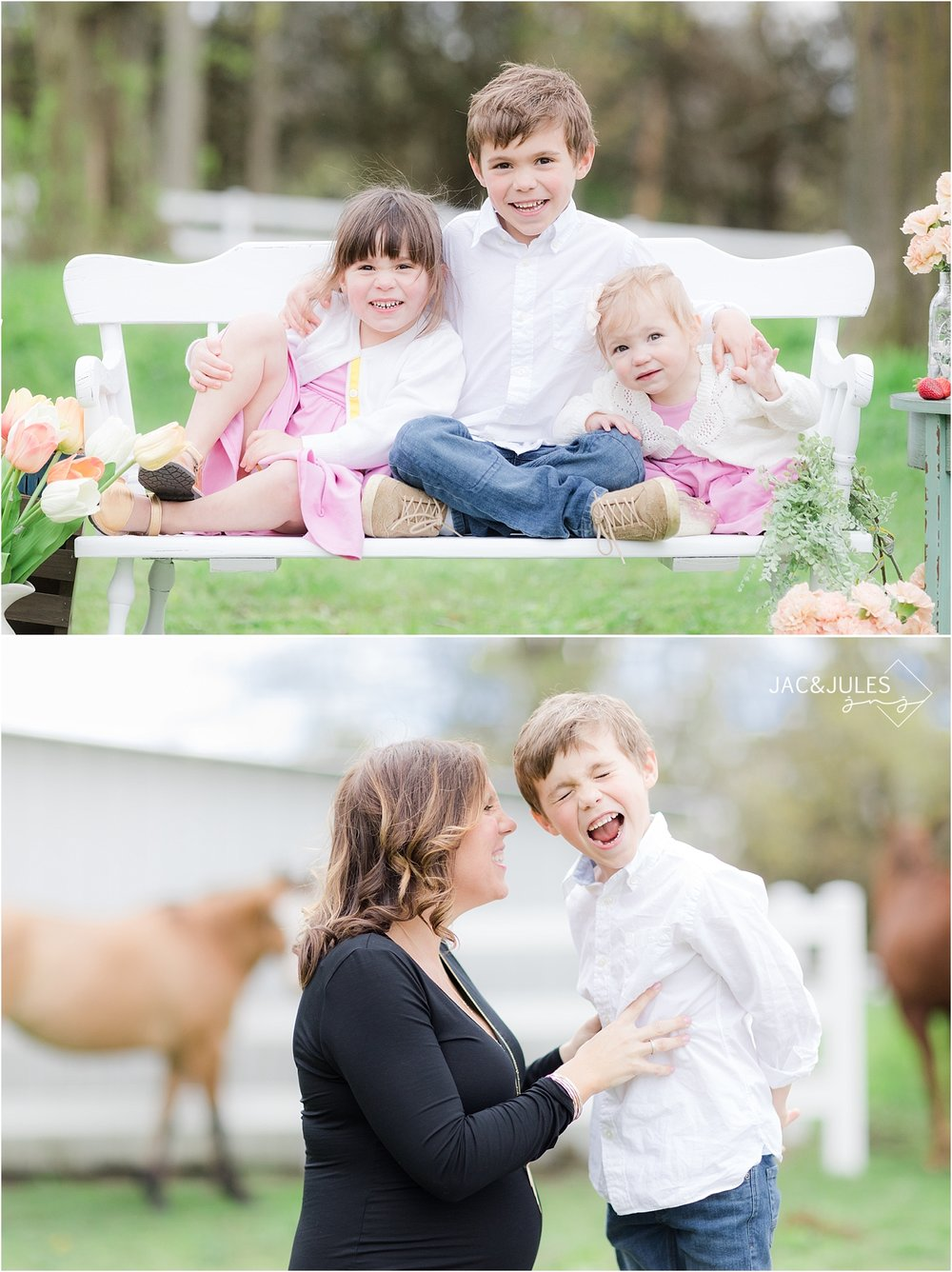 spring family photos at a farm in nj
