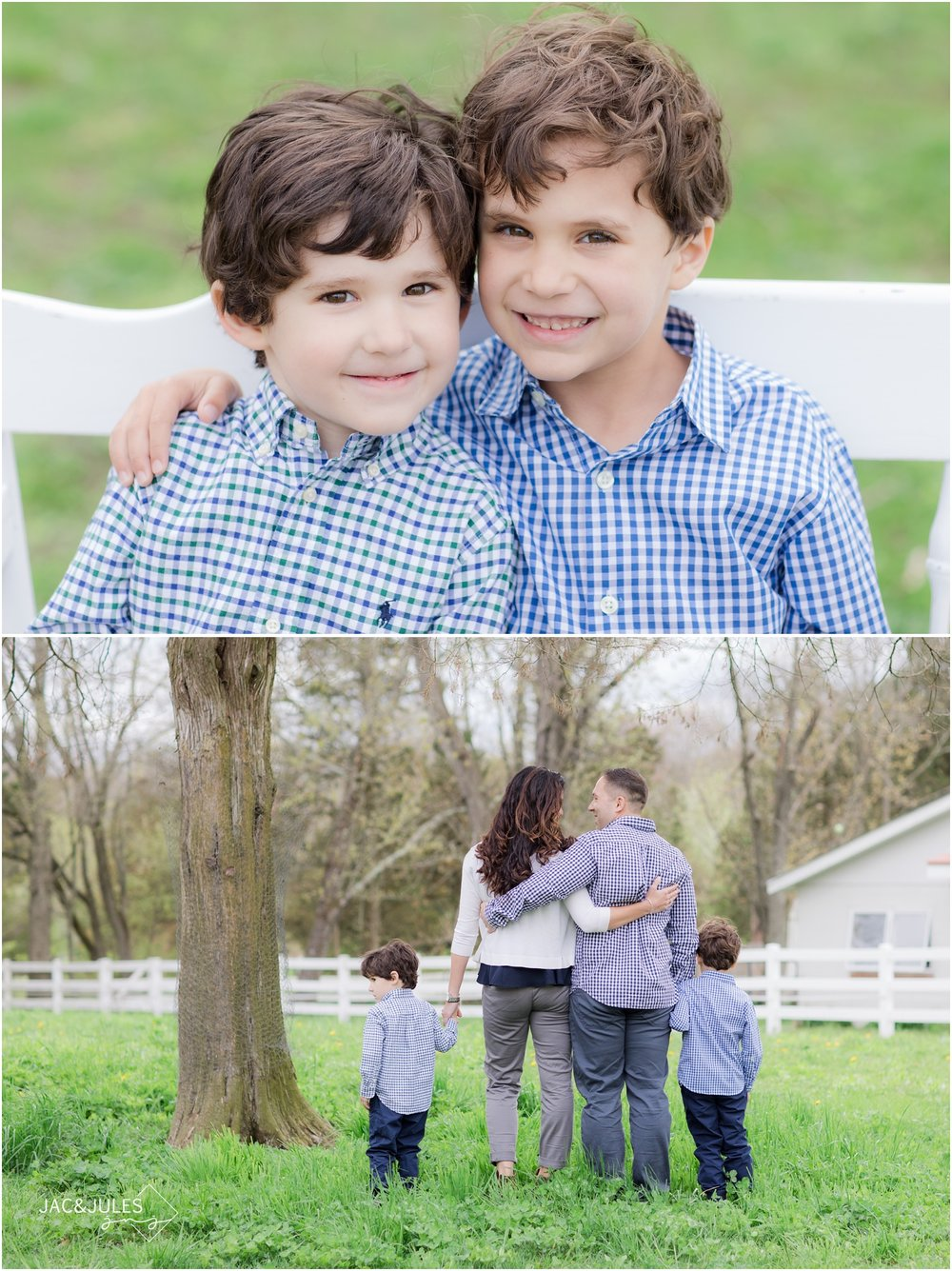 sweet family photos on a farm in nj