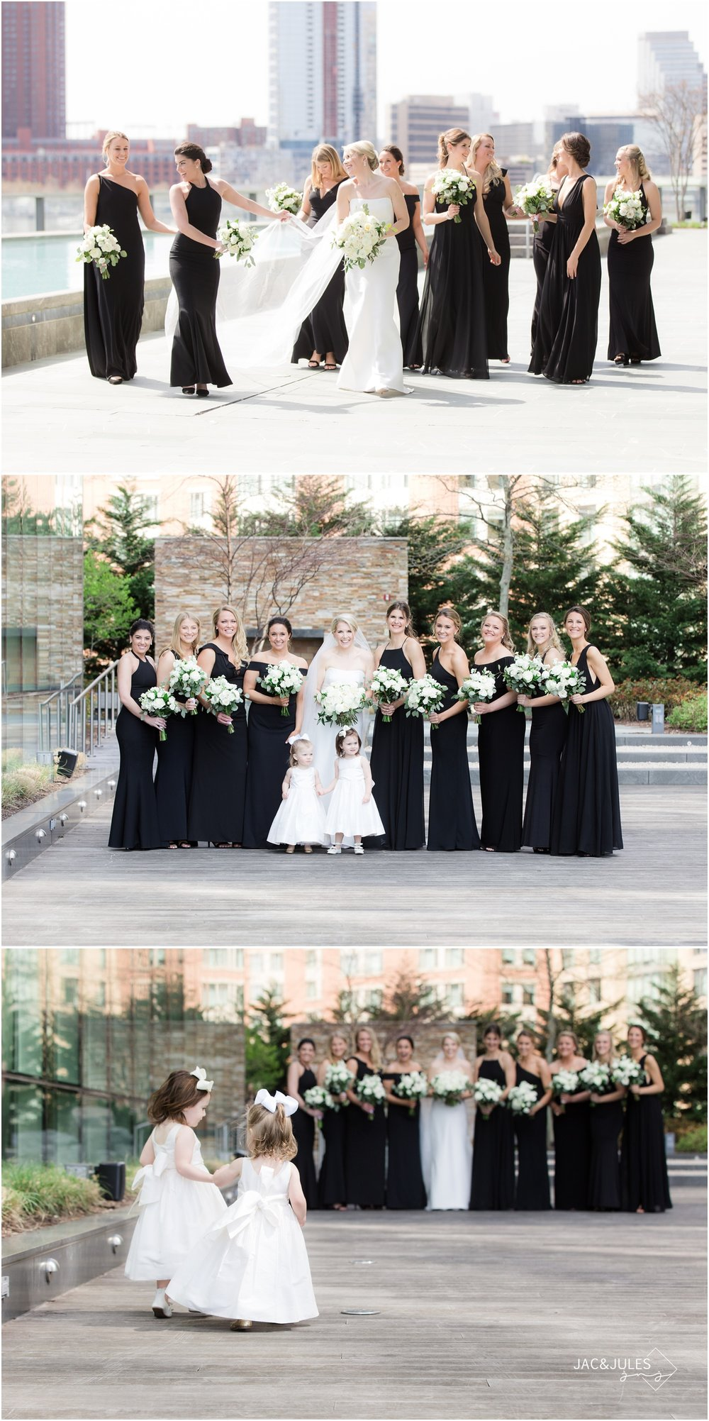 Bridesmaids photos at The Four Seasons Hotel in Baltimore, MD.