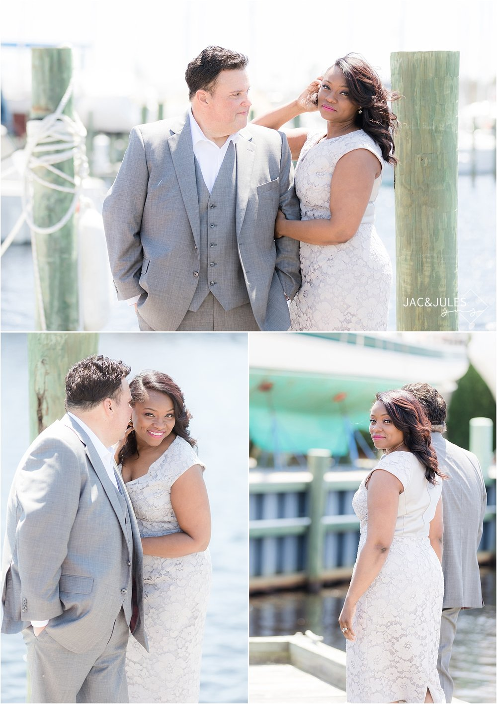 romantic wedding pictures in forked river nj
