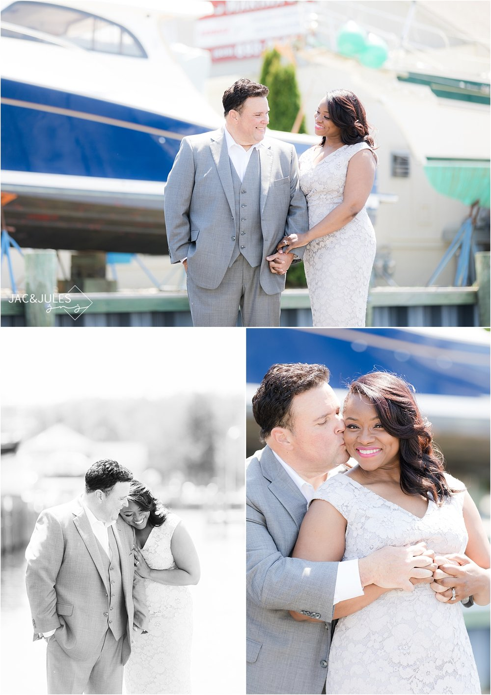 romantic wedding photos in forked river nj
