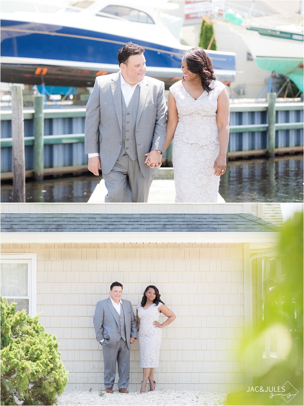 romantic southern nj wedding photo