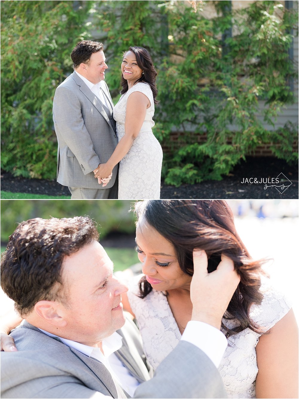 romantic wedding portrait in smithville nj