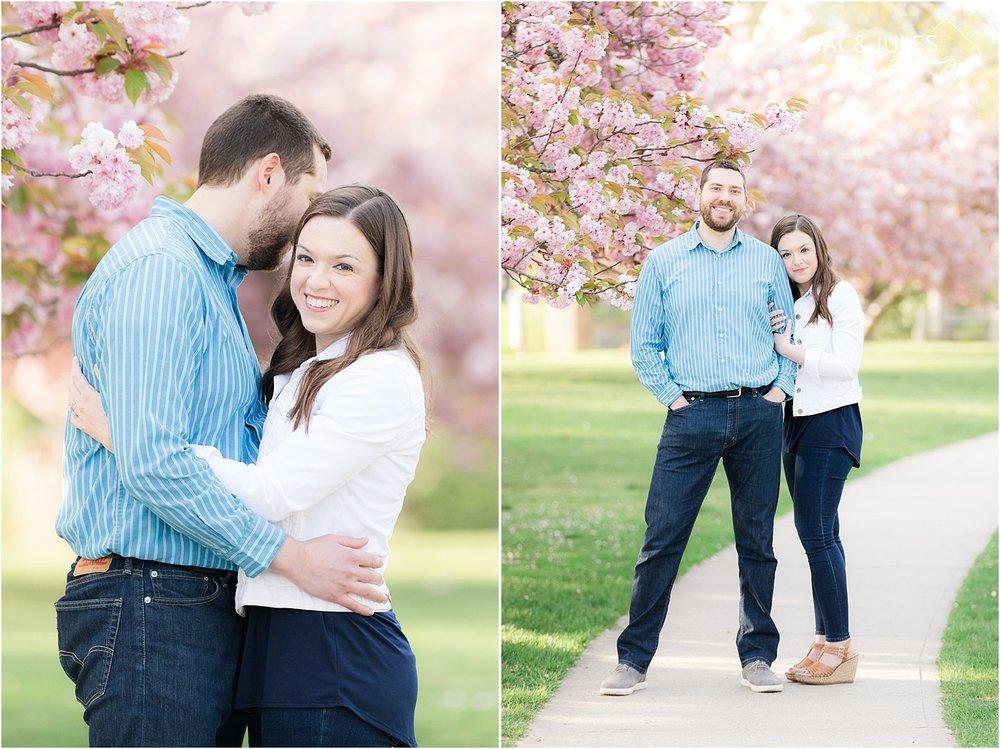 romantic engagement photos in spring lake nj