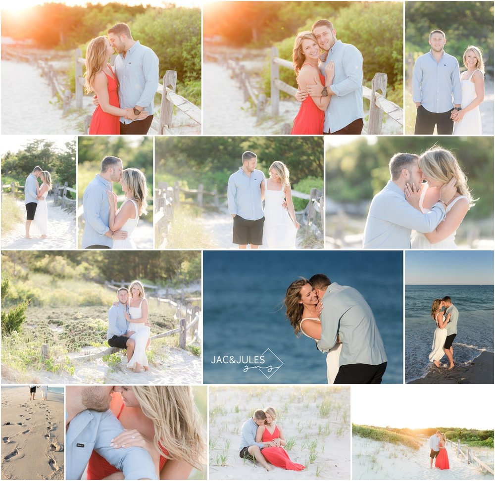 Highlights from an amazing romantic fun beach engagement session at Island Beach State Park in Seaside Park, NJ.