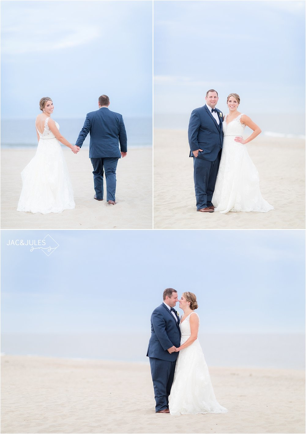 wedding photos at sunset at windows on the water at surfrider beach in sea bright nj