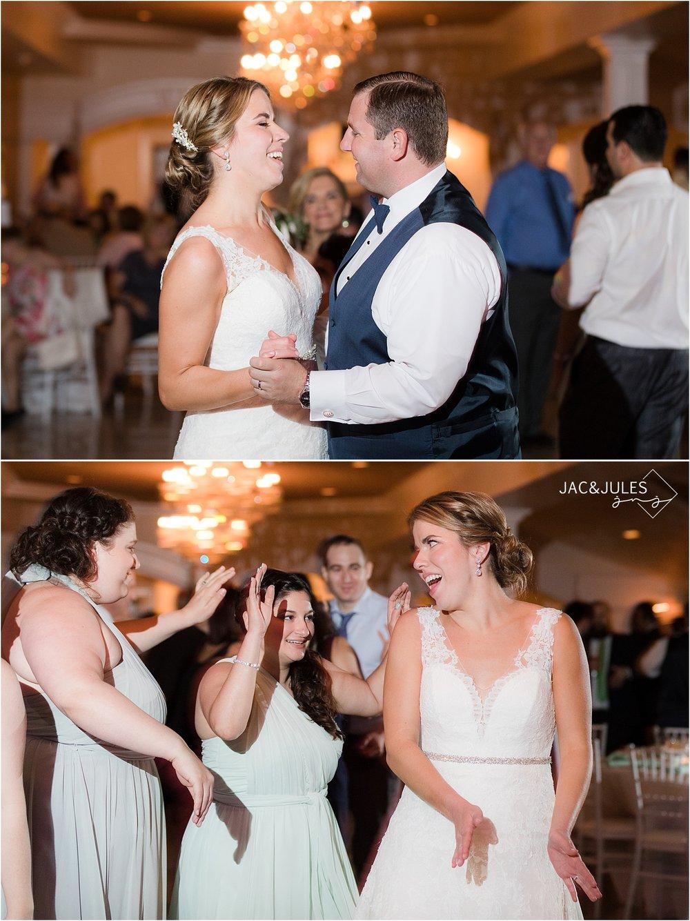 fun reception photo of girls dancing