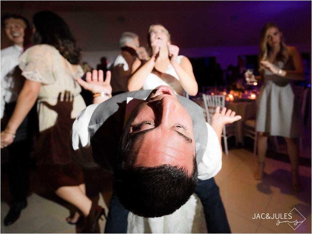 wild dancing at wedding reception with bride in nj