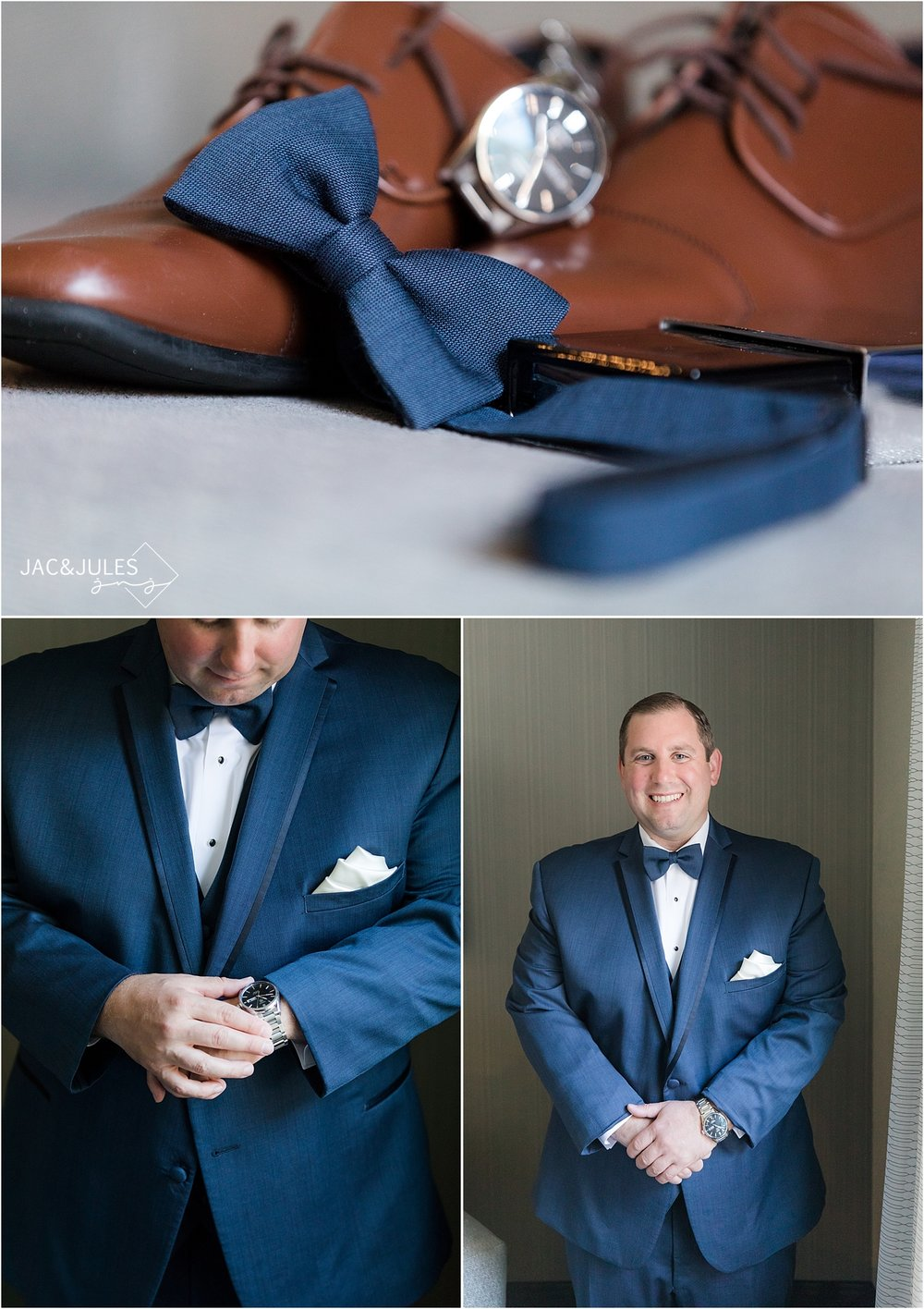photo of the grooms details