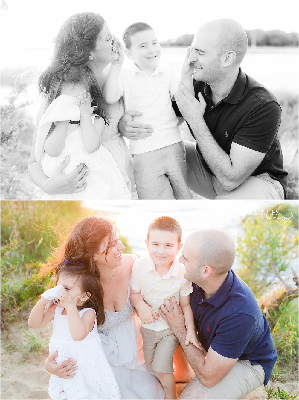 candid family photo using sigma 35mm art 1.4 at sandy hook nj