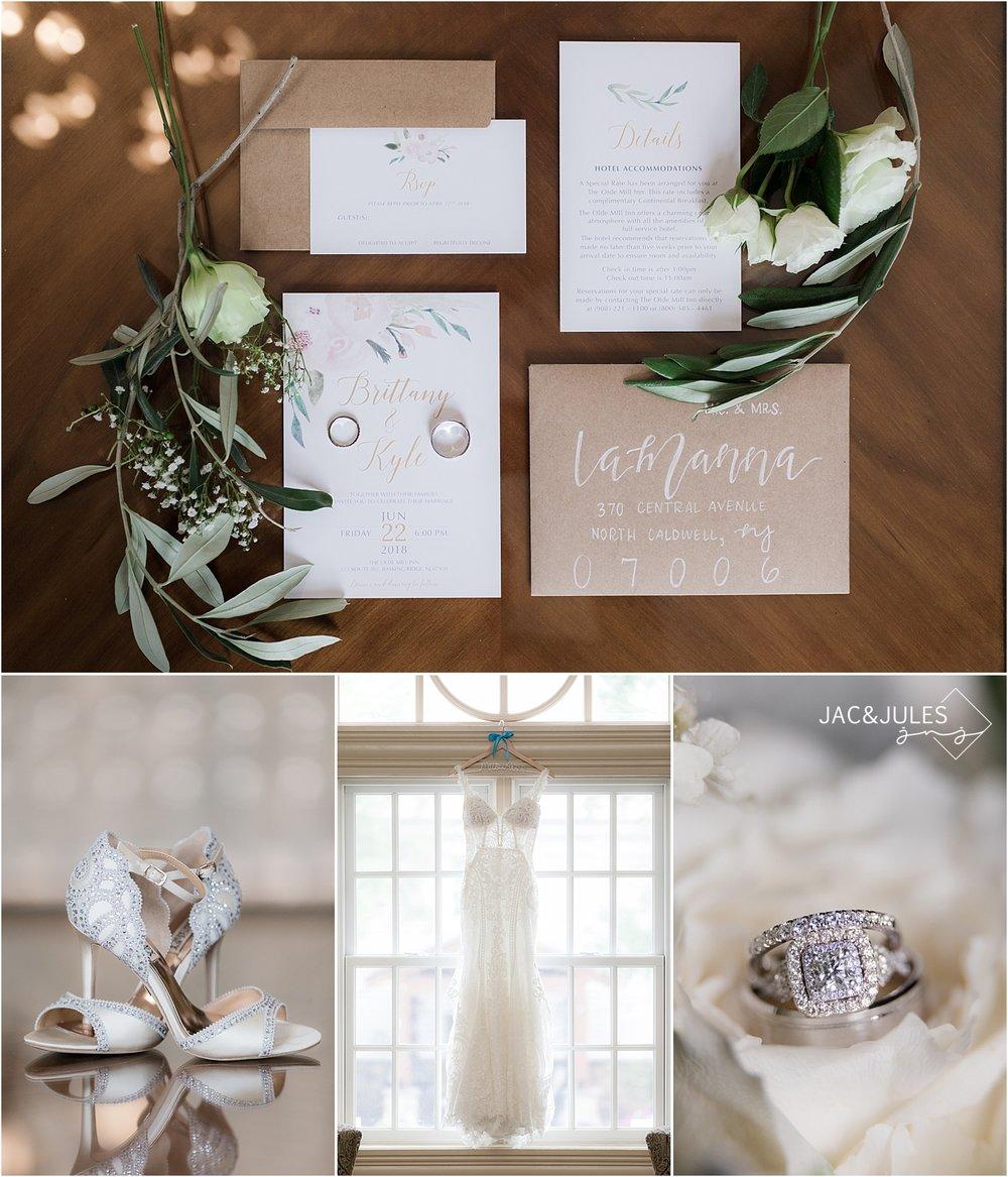 whimsical wedding details at olde mill inn