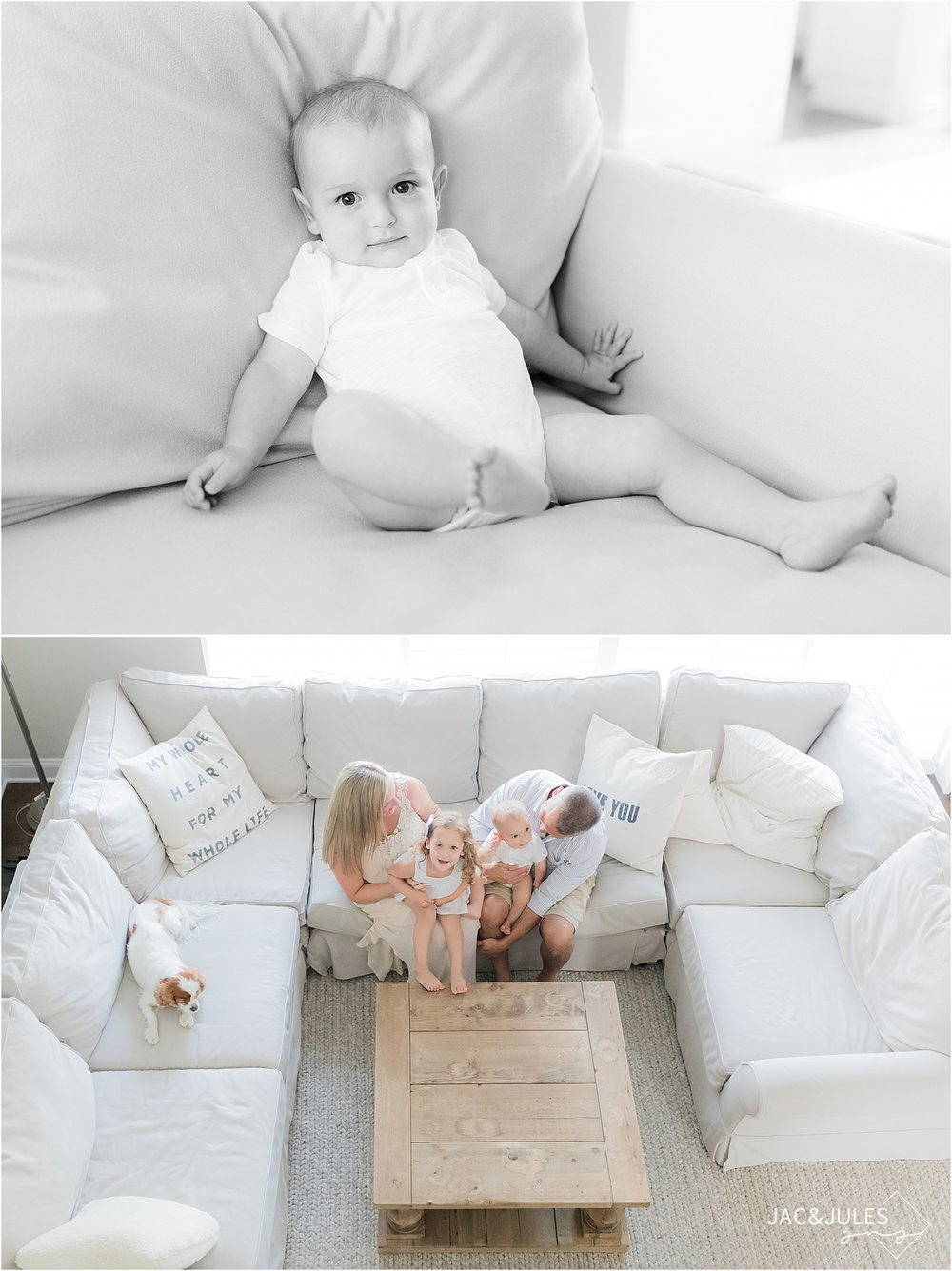 lifestyle photo of family playing on couch