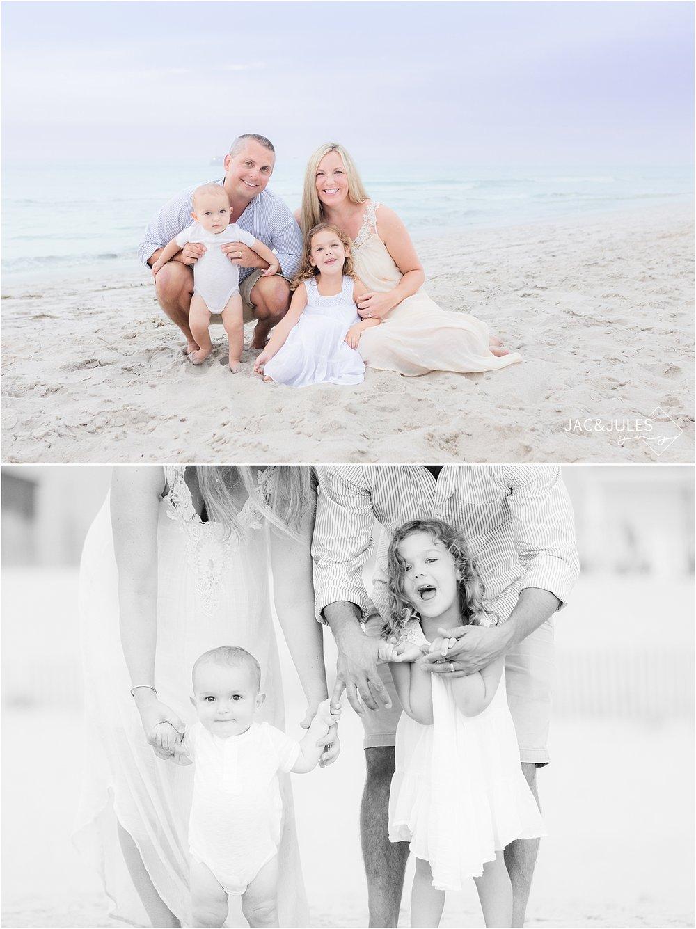 fun family photos on the beach in Mantoloking NJ