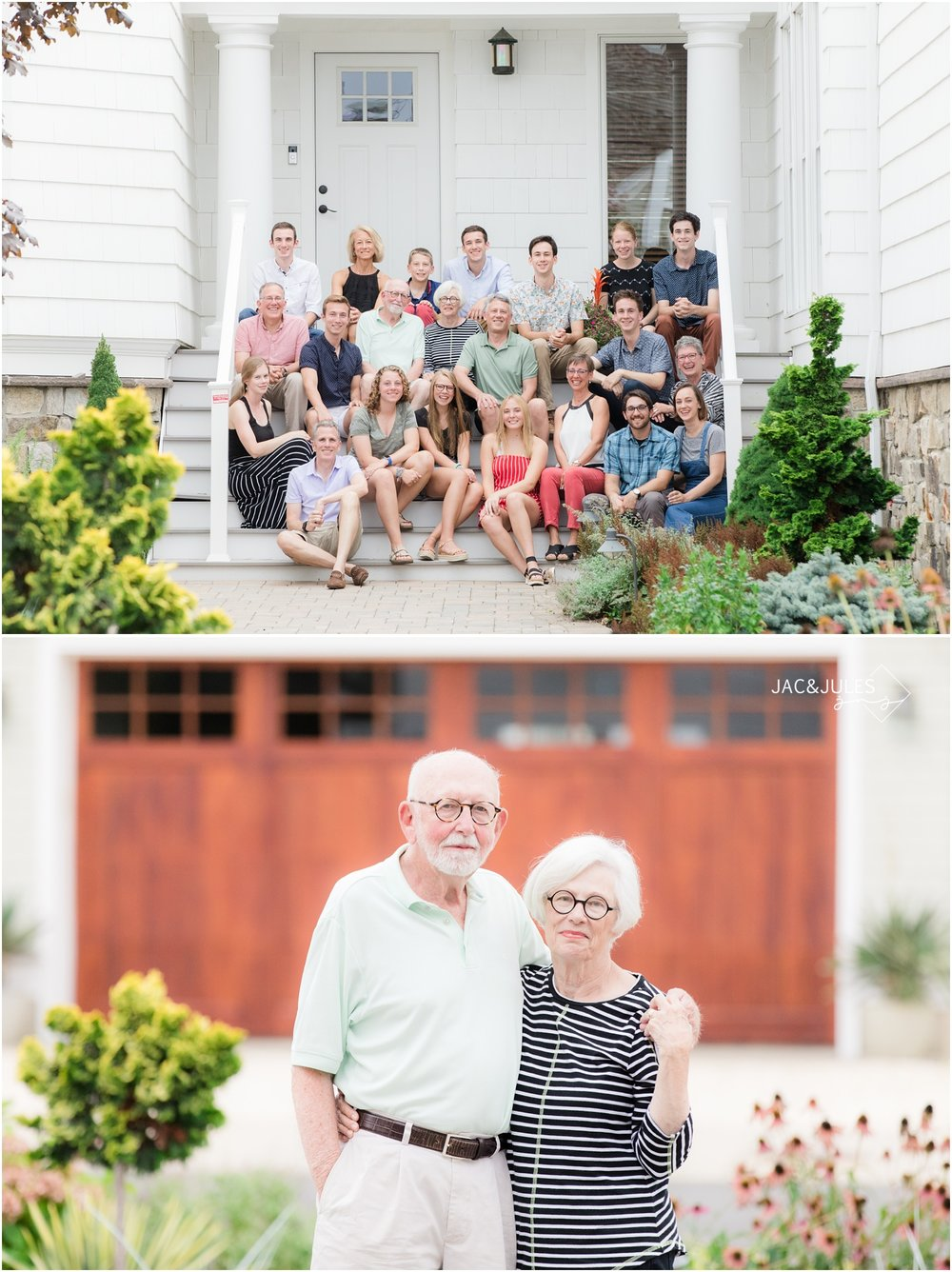 family reunion photos at home in Mantoloking, NJ.