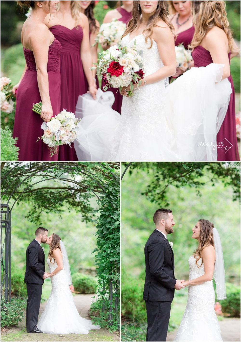 Newlywed couple photos at Cross Estate Gardens in Bernardsville, NJ.