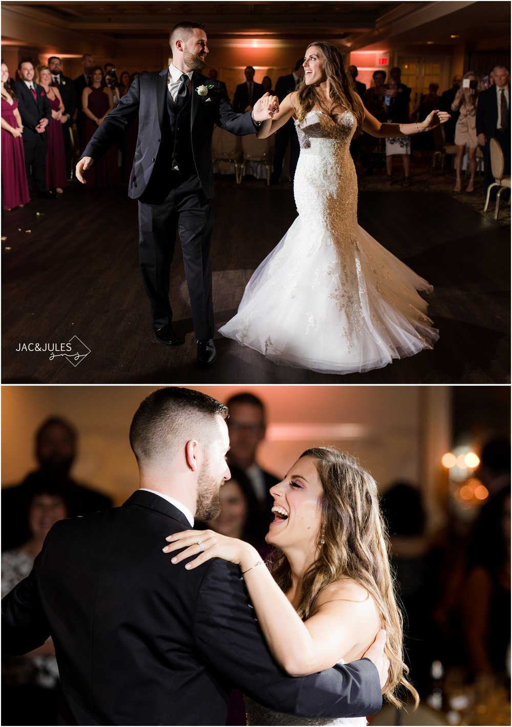 Wedding reception first dance at The Olde Mill Inn in Basking Ridge, NJ.