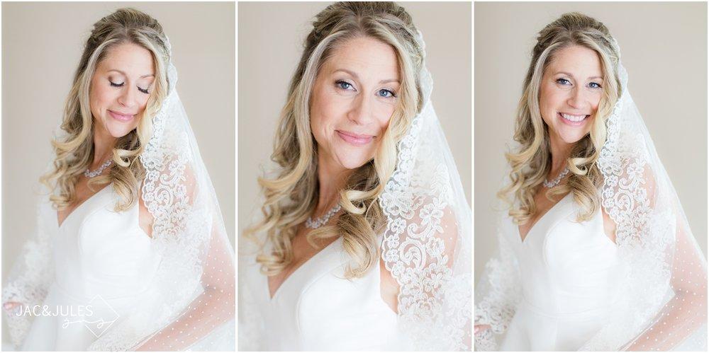 bridal portraits at home in Spring Lake, NJ.