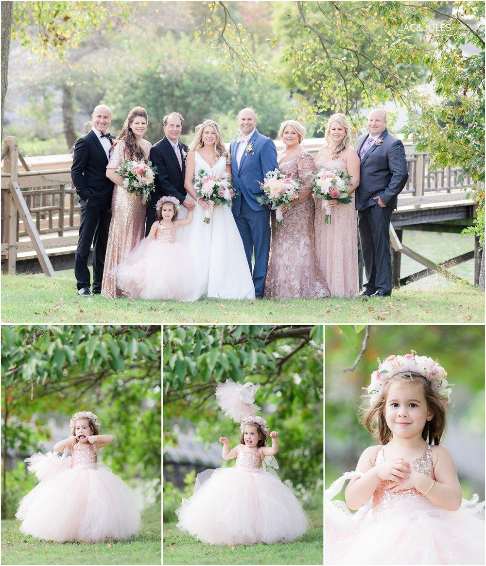 Family photos by the bridge in Devine Park in Spring Lake, NJ.