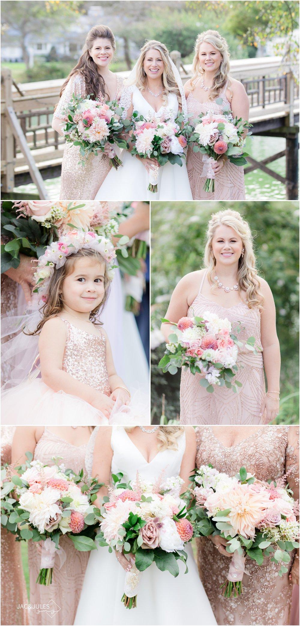 Bridesmaids photos in Devine Park in Spring Lake, NJ.