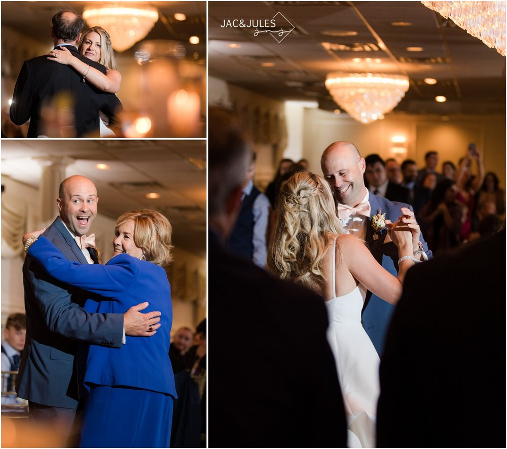 First dances at wedding reception at The Breakers in Spring Lake.