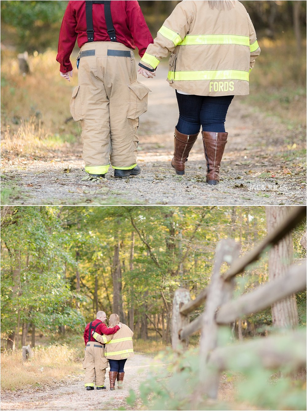 fireman engagement photo ideas