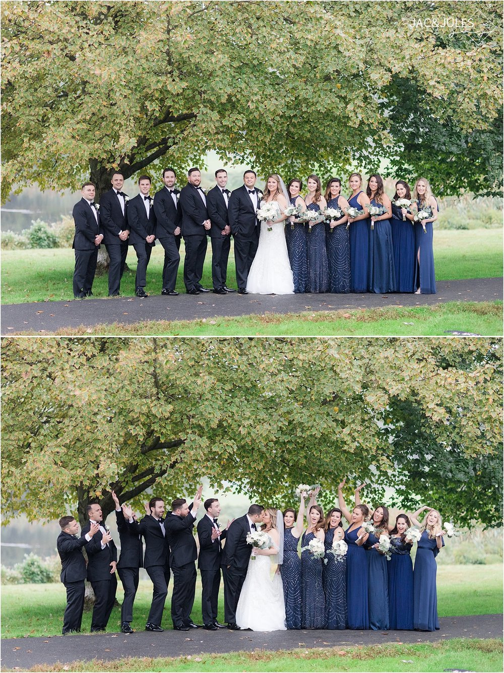 bridal party photos at Briant Park
