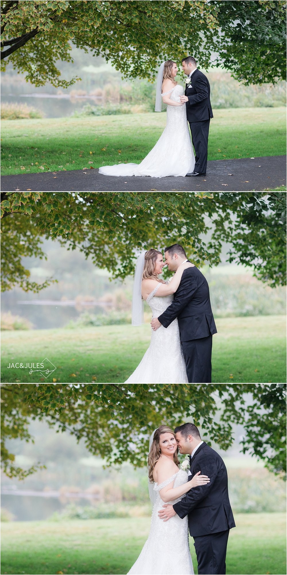 romantic wedding photos at Briant Park