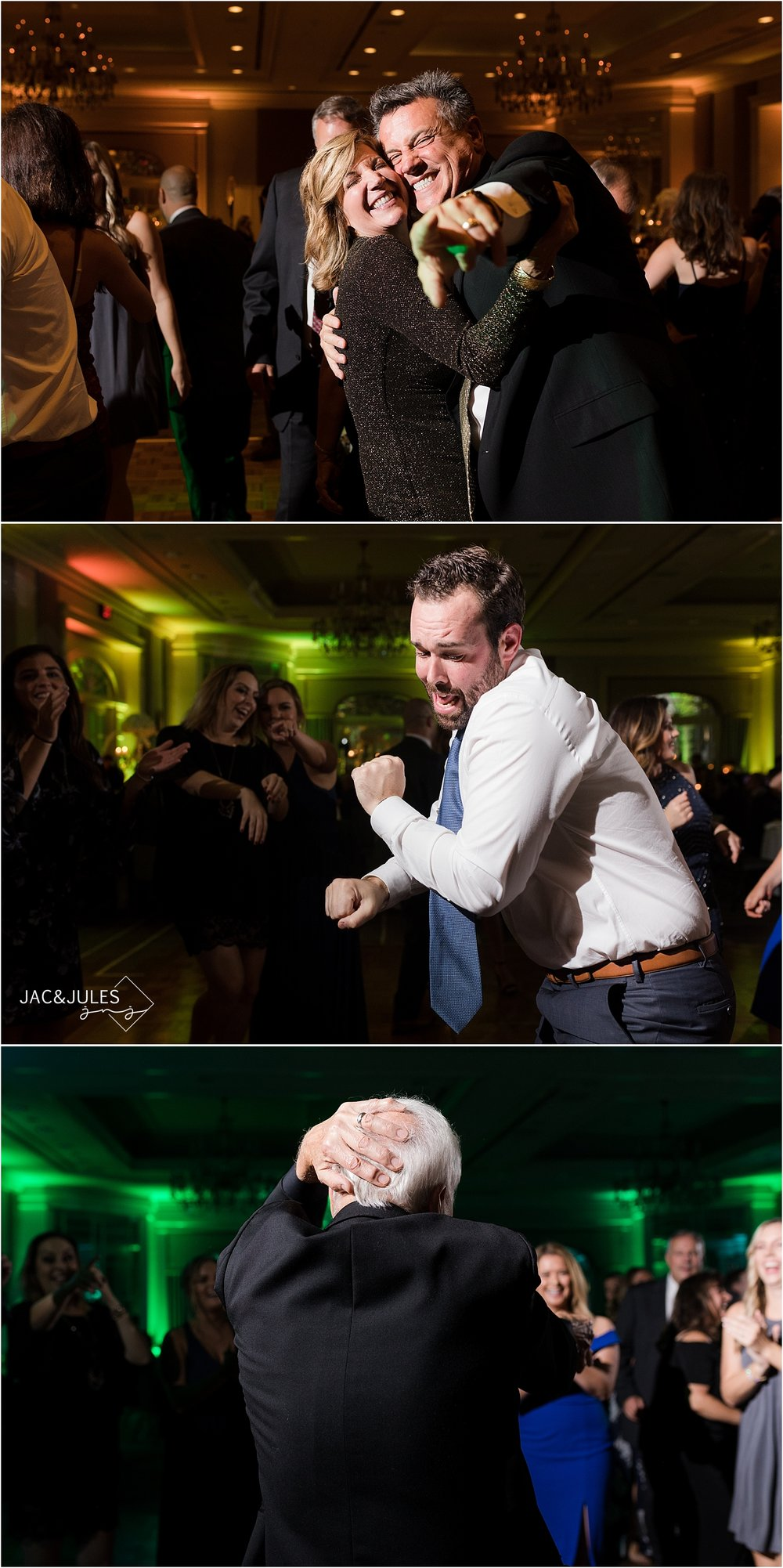 wild dancing photos at short hills hilton wedding in nj