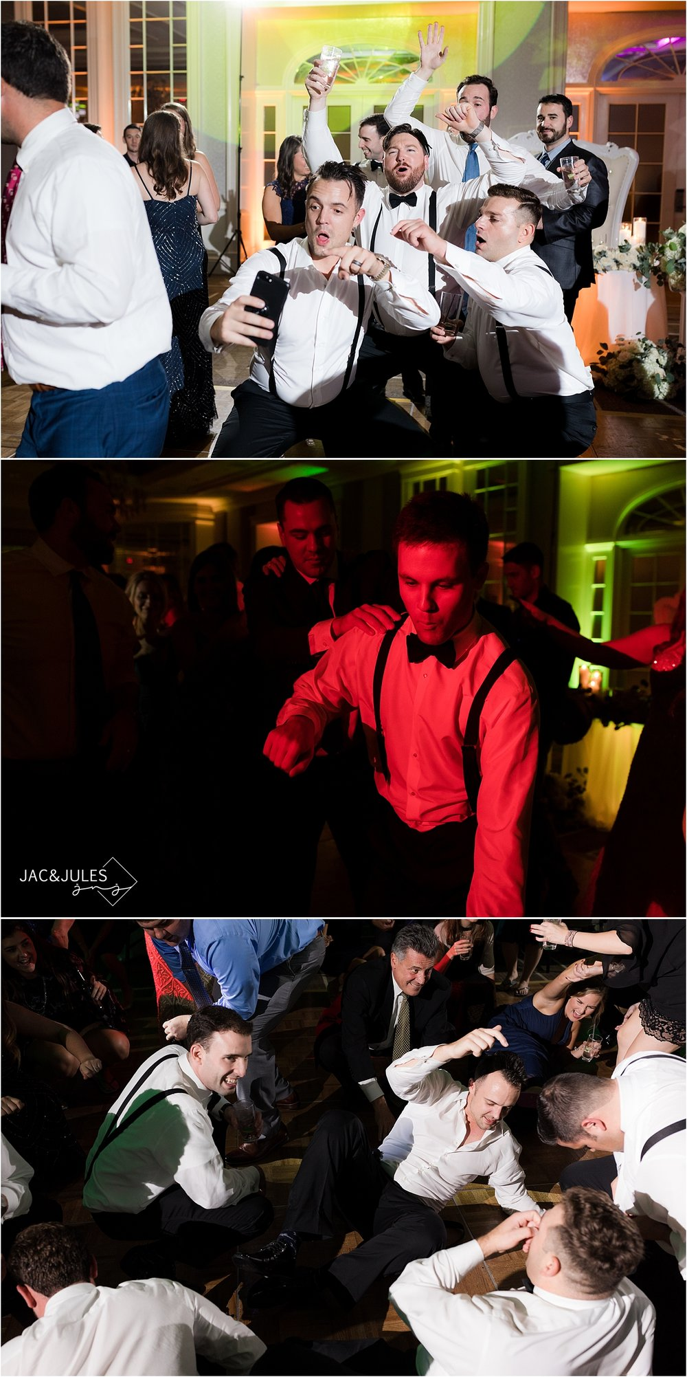 wild dancing at wedding reception at short hills hilton nj